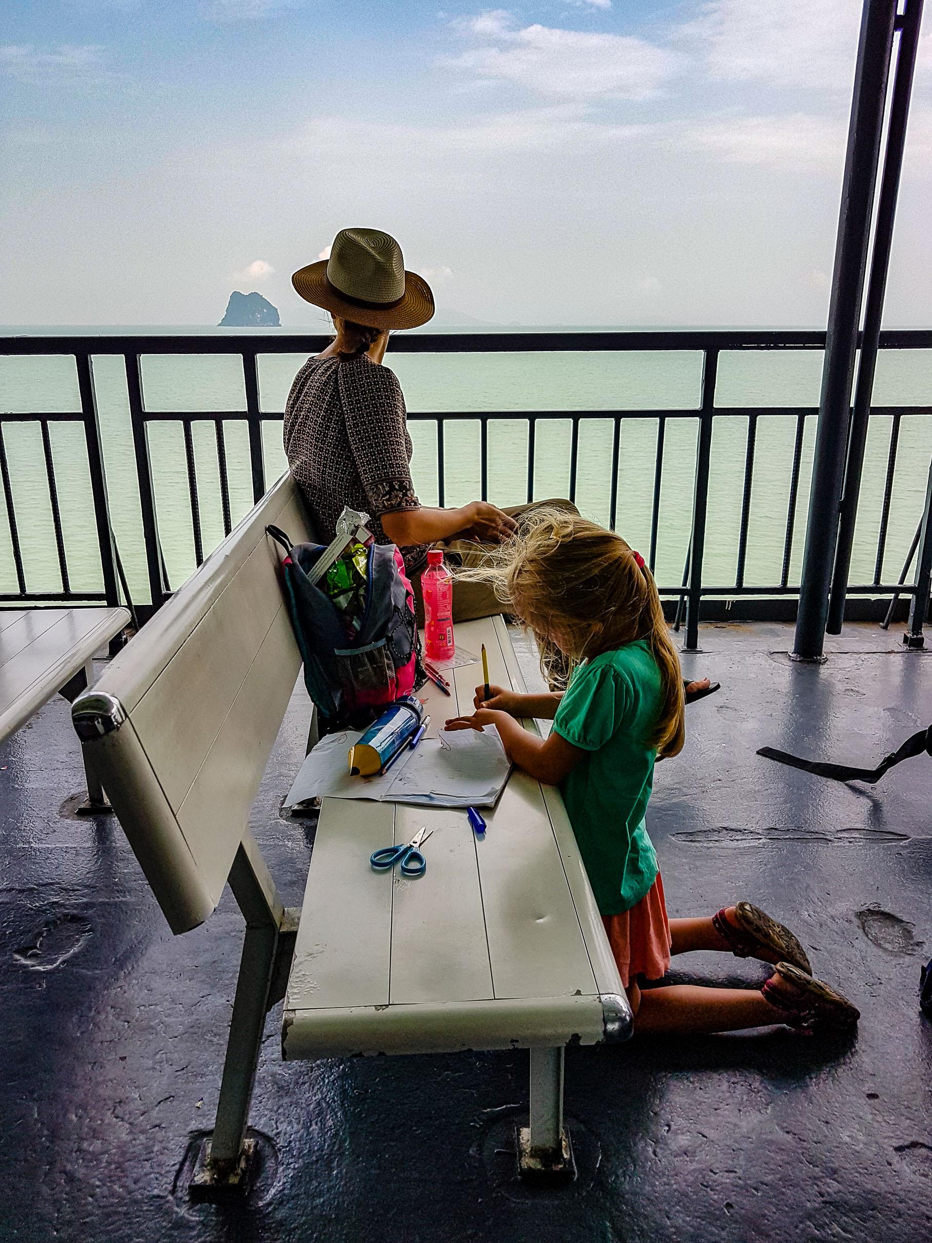 O podróżowaniu promem na wyspę Koh Samui. [O podróżowaniu] Koh Samui, Tajlandia.