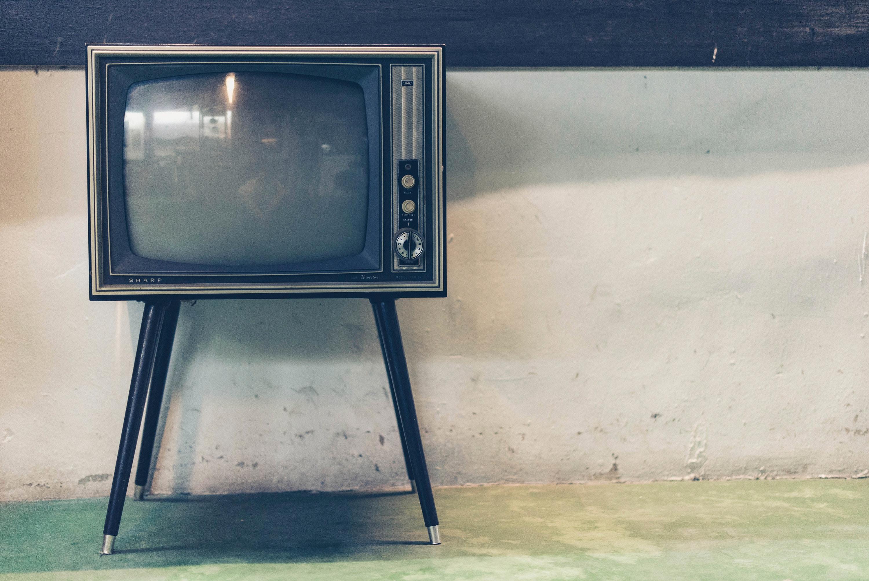 Zdjęcie starego telewizora.