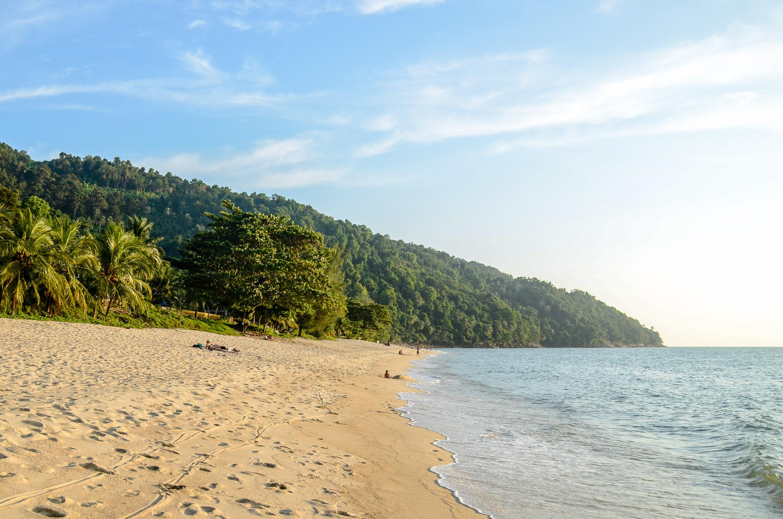 Plaża Panjang na zachodniej części wyspy. Penang, Malezja