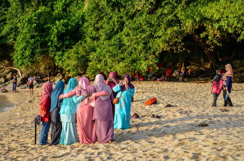 Plaża Panjang jest doskonałym plenerem zdjęciowym. Penang, Malezja.