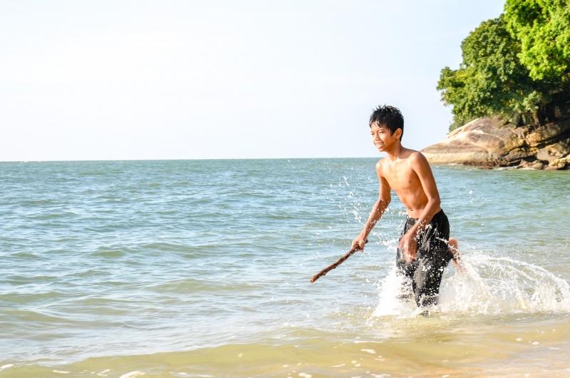 Zwykła dziecięca radość życia. Penang, Malezja.