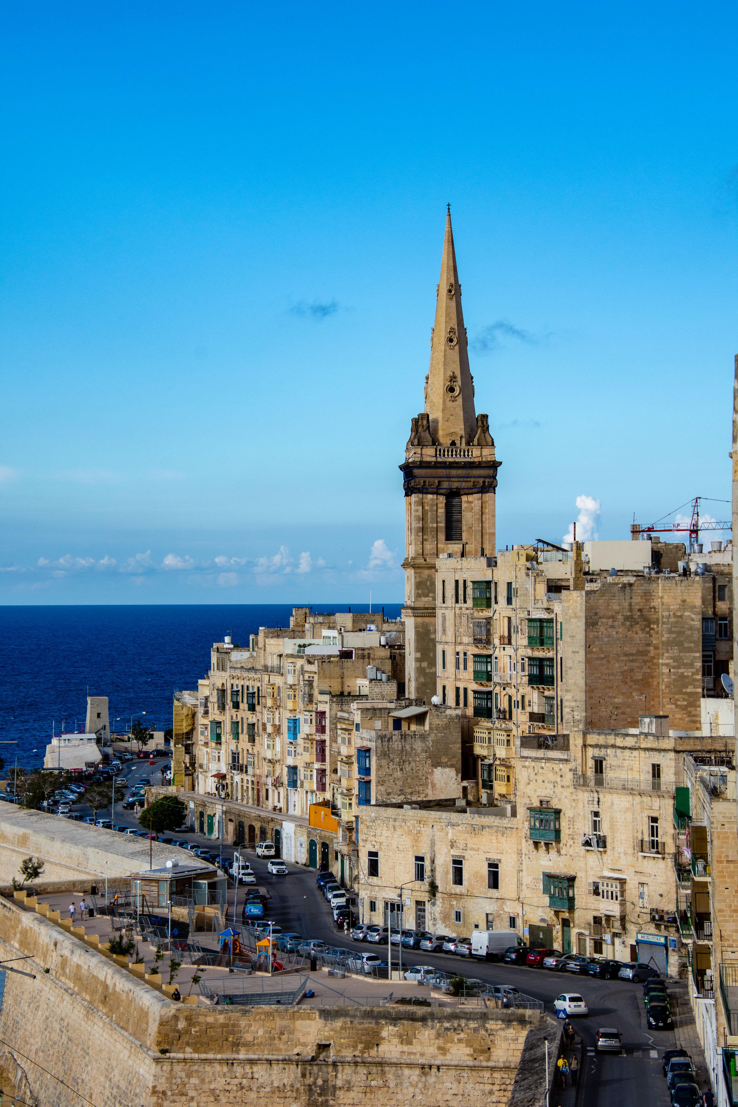 Widok na prokatedrę Św. Pawła [Valetta, Malta]