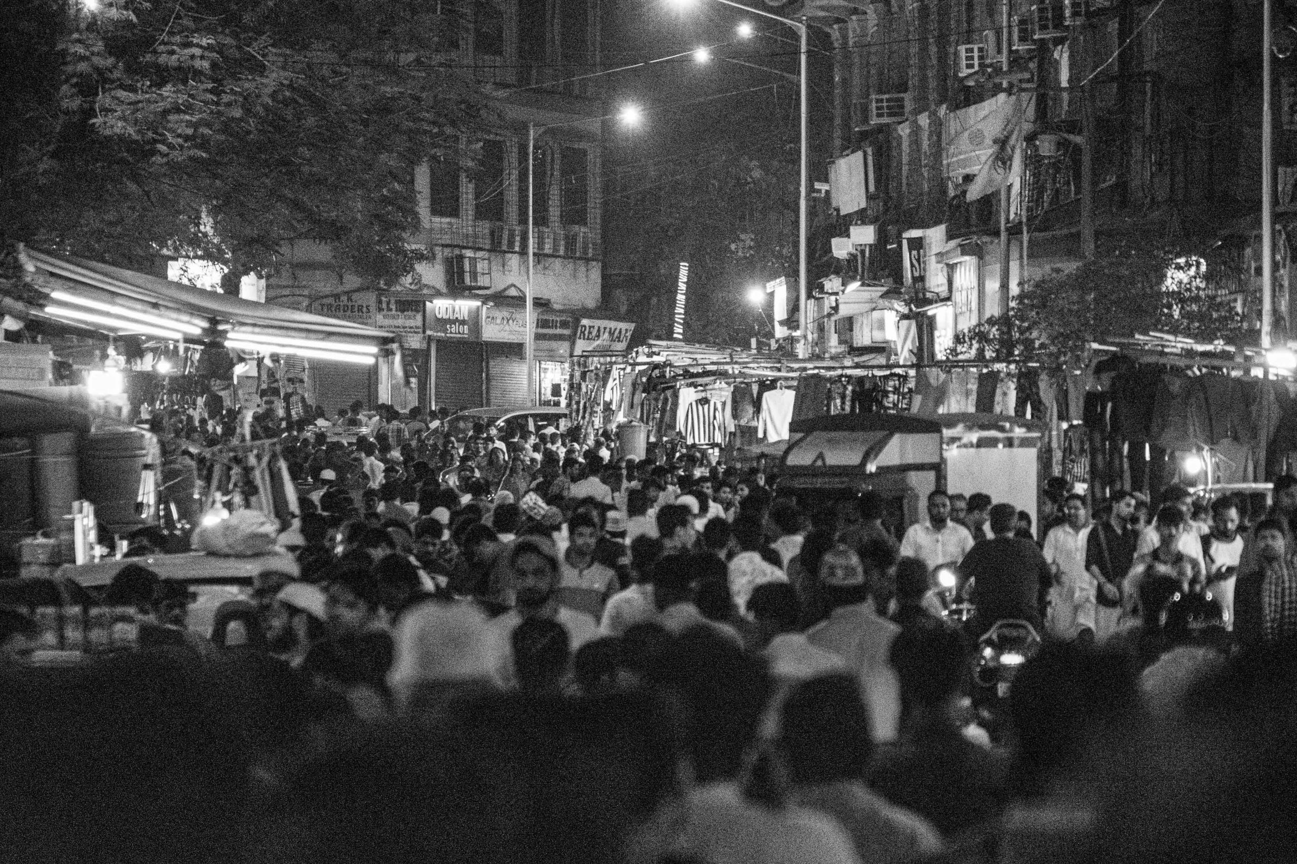 Wieczorny gwar na jednej z ulic | Mandvi | Mumbaj | Indie